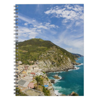 Italy, Cinque Terre, Vernazza, Hillside Town of 2 Notebooks