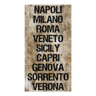 Italy Cities Poster