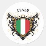 Italy Classic Round Sticker