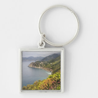 Italy. Coastal hiking area between the villages Silver-Colored Square Key Ring