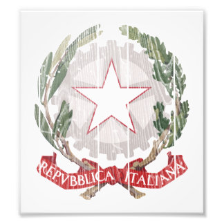 Italy Coat Of Arms Photograph