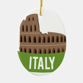 Italy Coliseum Rome Christmas Ornament