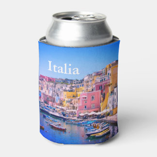 Italy Colorful Fishing Port Can Cooler