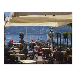 Italy, Como Province, Bellagio. Lakeside cafe. Postcard