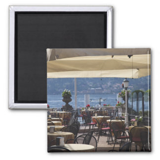 Italy, Como Province, Bellagio. Lakeside cafe. Square Magnet