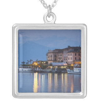 Italy, Como Province, Bellagio. Town view, Silver Plated Necklace