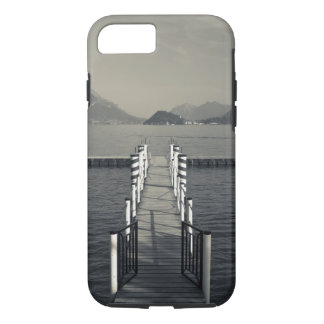 Italy, Como Province, Tremezzo. Lake pier. iPhone 8/7 Case