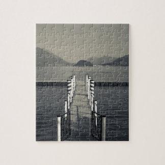 Italy, Como Province, Tremezzo. Lake pier. Jigsaw Puzzles