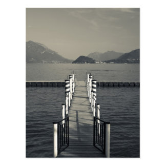 Italy, Como Province, Tremezzo. Lake pier. Postcard