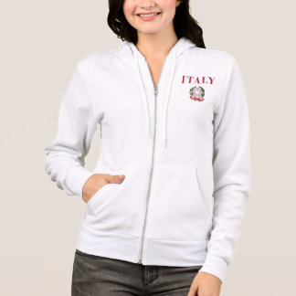Italy + Emblem of Italy Hoodie