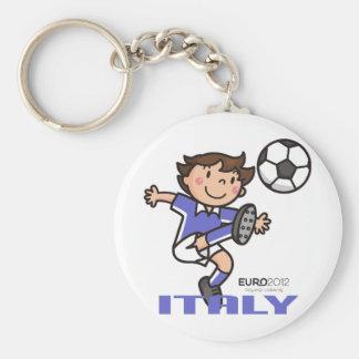 Italy - Euro 2012 Basic Round Button Key Ring