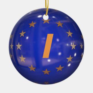 Italy European Union Flag Christmas Ornament