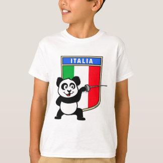 Italy Fencing Panda T-Shirt