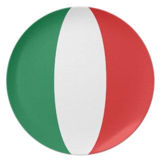 Italy Fisheye Flag Plate