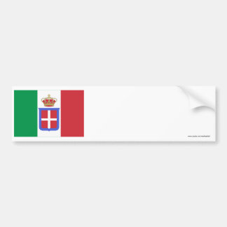 Italy Flag (1861-1946) Bumper Sticker
