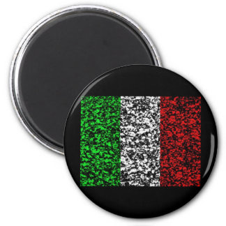 Italy - Flag 6 Cm Round Magnet