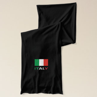 Italy Flag and Word Scarf