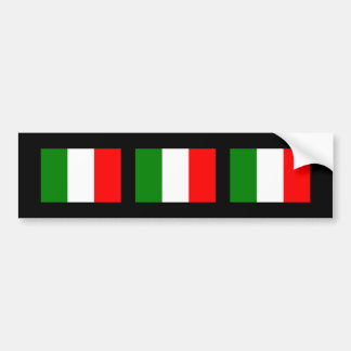 Italy Flag Bumper Sticker