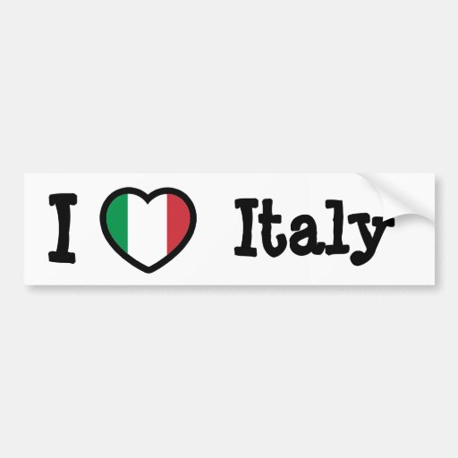 Italy Flag Bumper Stickers