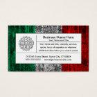 italy flag business card