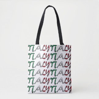 Italy Flag Color Typography European Country Bag Tote Bag