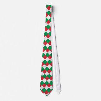 Italy Flag Colors Diamonds Tie