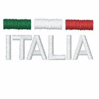 Italy flag colors embroidered embroidered hoodies
