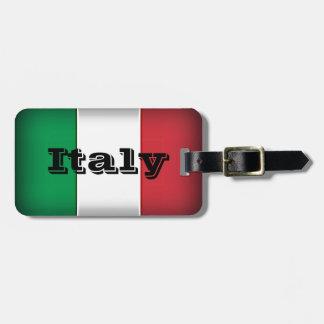 Italy Flag Dark Edge Luggage Tag