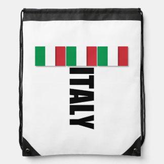 Italy Flag Drawstring Backpack