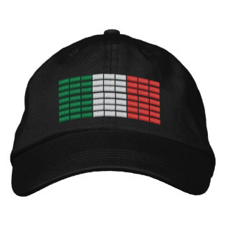 Italy Flag Embroidered Hat 1