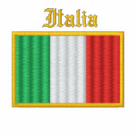 italy Flag Embroidered Jacket