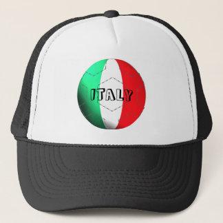 Italy flag football soccer hat