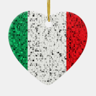 Italy Flag glitter ornament
