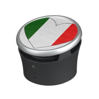 Italy Flag Heart Bluetooth Speaker