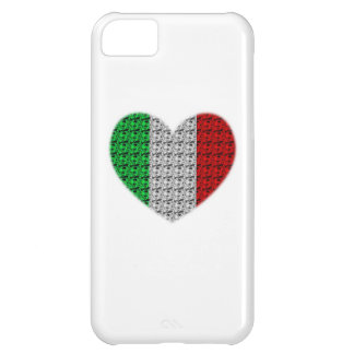 Italy Flag Heart iPhone 5C Case