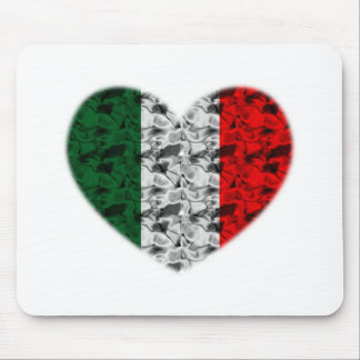 Italy Flag Heart Mouse Mat