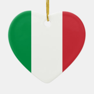 Italy Flag Heart Ornament