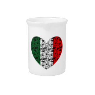 Italy Flag Heart Pitcher