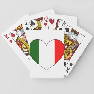 Italy Flag Heart Poker Deck