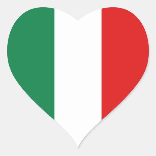 Italy Flag Heart Sticker