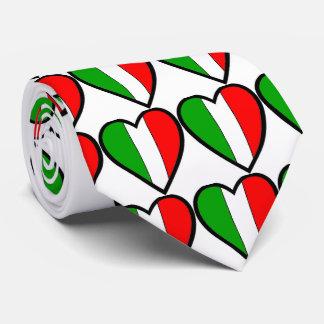 Italy Flag Hearts Tie