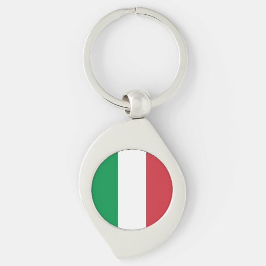 Italy Flag Key Ring