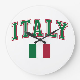 Italy + Flag Large Clock