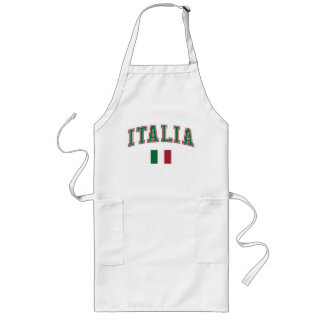 Italy + Flag Long Apron