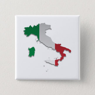 Italy Flag Map_2 15 Cm Square Badge
