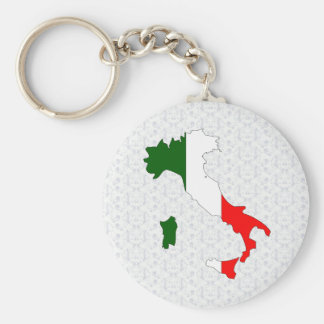 Italy Flag Map full size Key Ring
