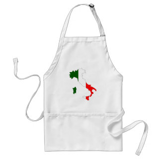 Italy flag map standard apron