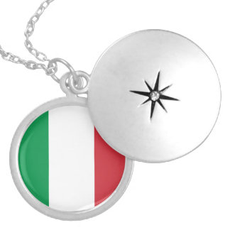Italy Flag Necklace