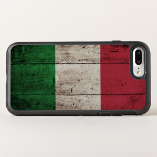 Italy Flag on Old Wood Grain OtterBox Symmetry iPhone 8 Plus/7 Plus Case