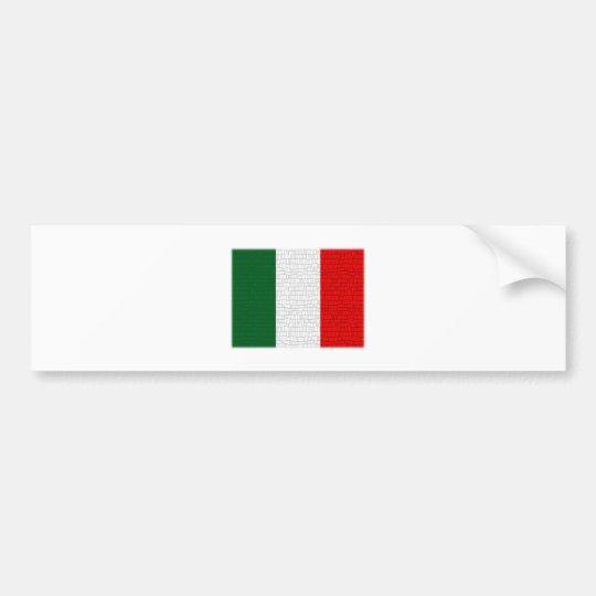 Italy Flag Snake Skin Bumper Sticker